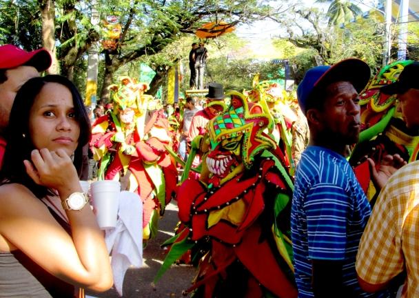 A diablo looking to gift someone with a vejigaso! Photo by José Germosén